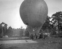 Army gas balloon on ground