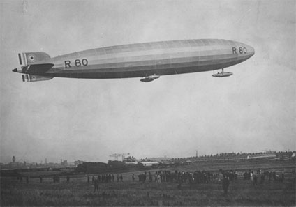 The R80 airship, first flown on 19 July 1920