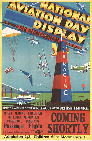 Sir Alan Cobham's National Aviation Day Poster