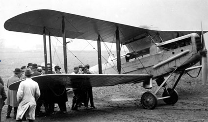 Alan Cobham's de Havilland D.H. 50 biplane that flew to India and back
