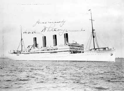 The RMS Windsor Castle that raced Alan Cobham to England from Cape Town, South Africa