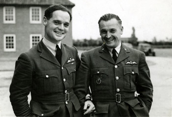 "Douglas Bader with ""Major Hess commander of a Czech fighter squadron"""