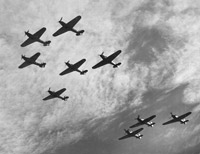 Aircraft formation - Battle of Britain