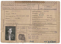 Prisoner of War record card of Flt Lt John Harder, July 1944