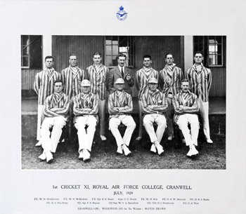 1st Cricket XI, Royal Air Force College Cranwell, 1929