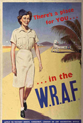 Recruiting poster for WRAF