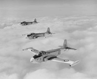 Jet Provost trainers in formation flight, 1960