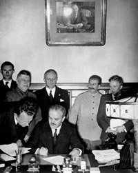 Stalin began to consider a treaty with Germany