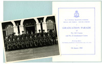 Graduation photograph and booklet for graduation parade of 1 Initial Training School, 1960