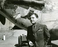 Actor Kenneth More plays Douglas Bader in Reach for the Sky