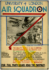 University Air Squadrons were formed from 1925 at the Universities of Cambridge, Oxford and London.