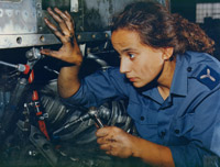 Senior Aircraftwoman working as a Mechanic