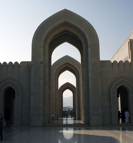 The Sultan Qaboos Grand Mosque in Muscat