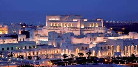 Oman is a modern & vibrant country, here we see the Royal Opera House in Muscat