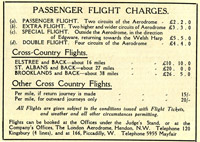 The cost for taking flight at the Hendon air show, circa 1912
