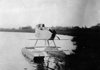 Modified floatplane with shortened wings to prevent take-off, circa 1915