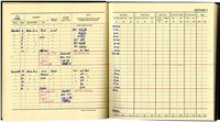 Pilot's log book showing training on a Hercules simulator, 1976