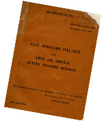 RAF Standard Syllabus for Civil and Service Flying Training Schools, July 1938