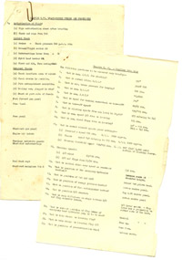Training notes and quiz for the de Havilland Vampire aircraft, 1956
