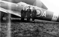 ATA pilots with a Supermarine Spitfire Mk. IX