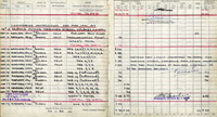 Extract from Flt Lt Pelham's flying log book recording training flights, 1941