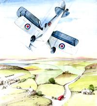 Painting by Flight Sergeant Albert Kimberley