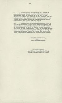 Dowding letter to the Air Ministry - page 2