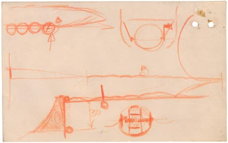 Barnes Wallis' bouncing bomb sketch