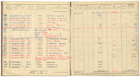'Mickey' Martin's Log Book