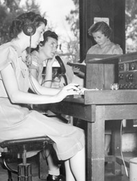 WRAF Wireless Operators on duty at Singapore Signals Centre, 1955