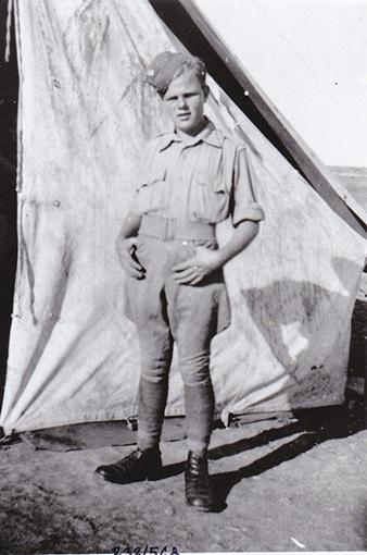Milan Malý, defender of Tobruk, later a pilot with 312 (Czechoslovak) Squadron. Archive of Tomáš Jambor.