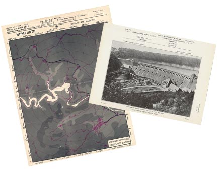 Target Map and Photo of the Eder Dam