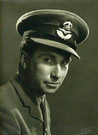 Plt Off William Meade Lindsley 'Billy' Fiske, an American Olympic gold medalist and pilot in 601 Squadron.