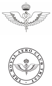 The logo of the Royal Aero Club Trust