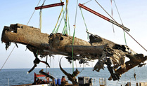 Dornier 17 - lifted from the seabed on 10th June 2013